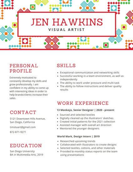 textile design cv template 29 creative and beautiful resume templates wisestep