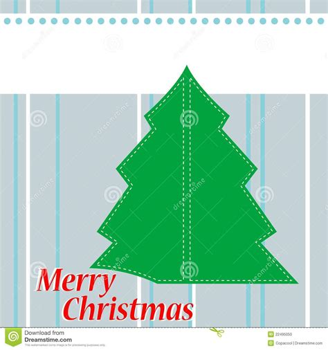 christmas tree card with the words merry christmas stock