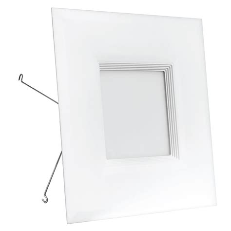 recessed led retrofit light trim feit electric 65w equivalent warm white 6 in square white