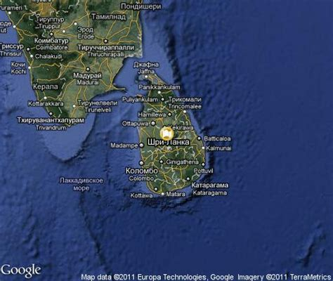 sri lanka satellite map sri lanka popular tourist places satellite map