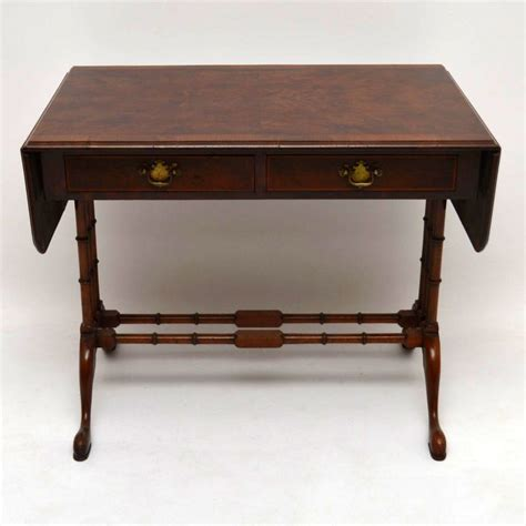 antique burr walnut sofa table la69765 loveantiques
