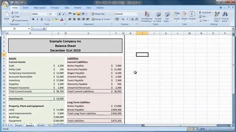 Simple Balance Sheet Template Excel by Best Photos Of Simple Balance Sheet Template Excel