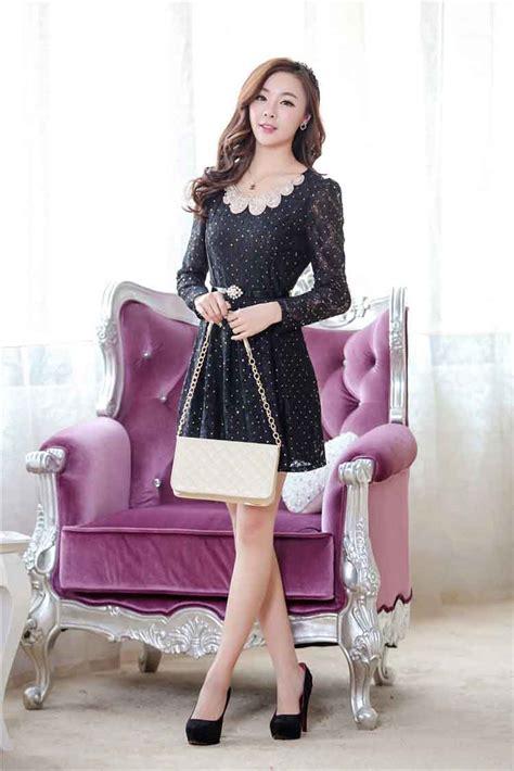 High Quality Dress Simple Korea Import dress korea bahan brokat model terbaru jual