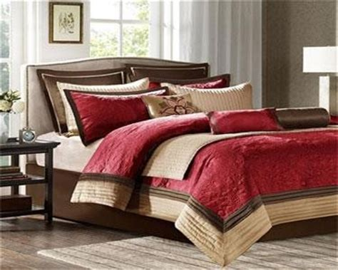 madison park juliana 9 piece comforter set red king