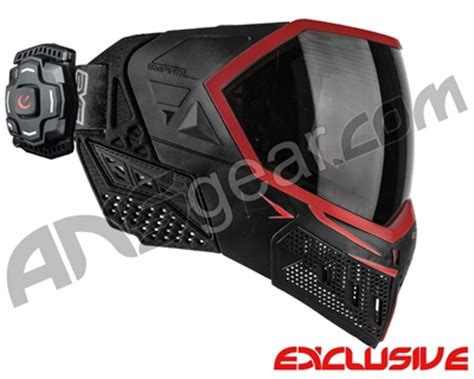 empire evs paintball mask w/ recon hud black/red