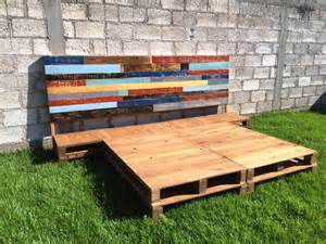 Pallet Platform Bed Diy Pallet Bed Frame With Headboard 99 Pallets