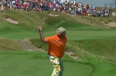 2015 michigan pga professional chionship john daly launches club into lake michigan at pga