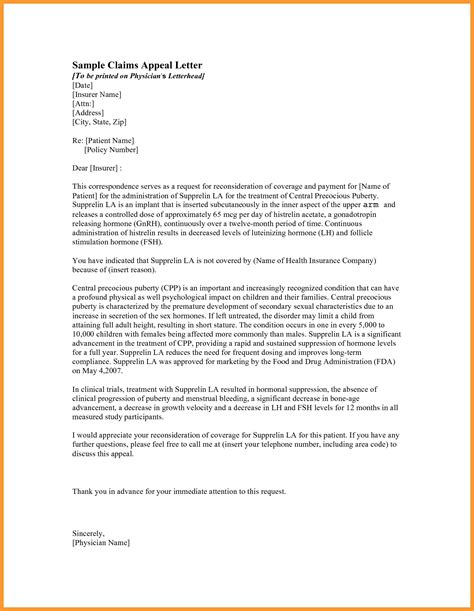 Appeal Letter Template Employment Amazing And Stunning Sle Letter Of Appeal For Reconsideration 2017 Letter Format