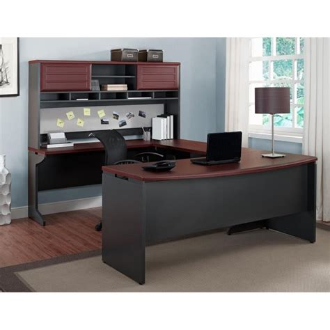 office furniture set u shaped office set in cherry and gray 9347096