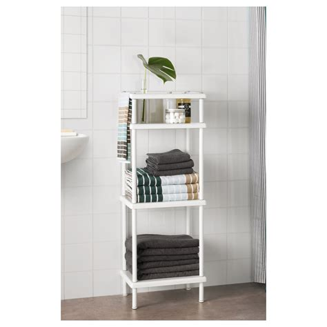 bathroom storage shelf units dynan shelf unit with towel rail white 40x27x108 cm ikea