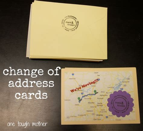 address change card template diy change of address cards sweet tea saving grace