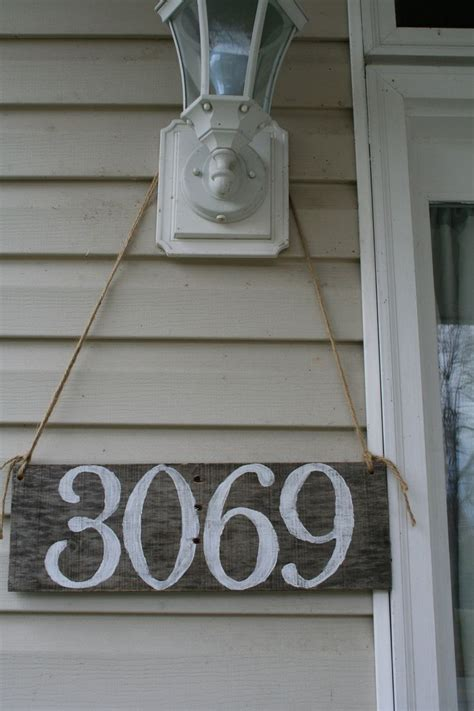 hanging house numbers for l post diy house number plaque www imgkid com the image kid