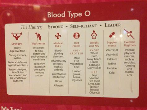 O Blood Type top diet foods blood type o positive diet food list