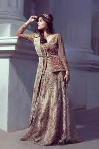pakistani bridal dresses in red and gold colors 2018