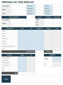 check stub templates free pay stub templates smartsheet