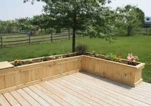 deck with exterior planter boxes deck with garden ideas