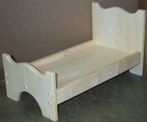 wooden doll bed wood doll bed unfinished pine wood good for american doll