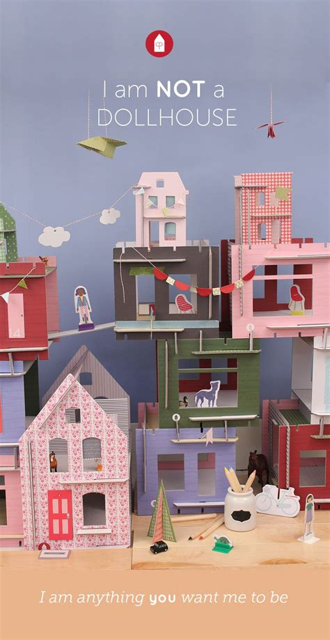 how to make a paper doll house not a dollhouse diy kids craft dolls houses by lille