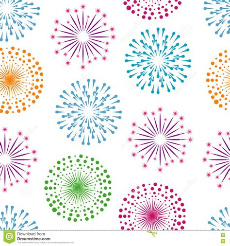 seamless pattern fireworks fireworks seamless pattern background stock vector image