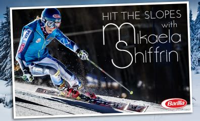 barilla quot hit the slopes with mikaela shiffrin quot sweepstakes iwg win a ski trip for 2 - Barilla Sweepstakes