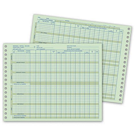 Business Forms Individual Payroll Records 575 By Deluxe Individual Payroll Record Template