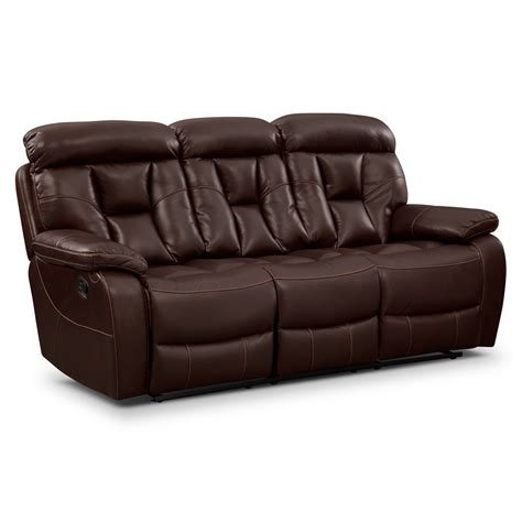 reclinable sofas dakota reclining sofa value city furniture