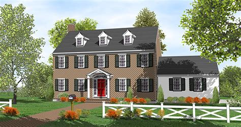 center colonial house plans gracious two story center 9558dm 2nd floor master suite colonial corner lot