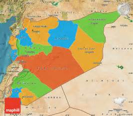 Maps Of Syria by Political Map Of Syria Satellite Outside