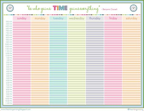weekly daily schedule template search results for printable daily schedule template