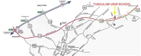 printable directions from mapquest tusculum view elementary school directions