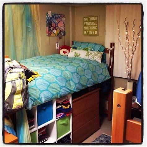 college dorm bed bed height dorm life pinterest