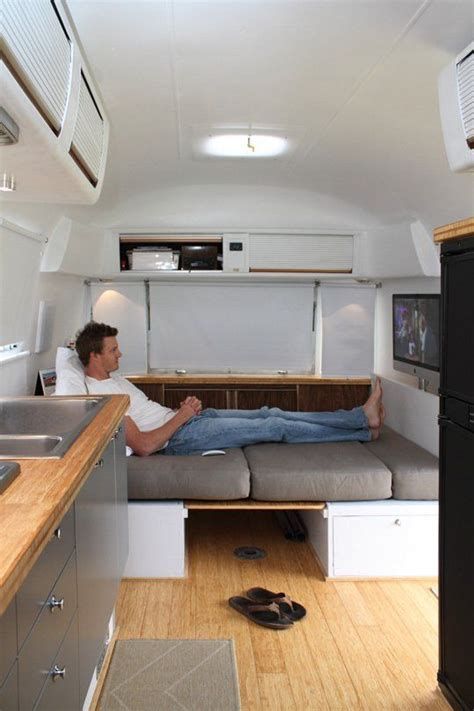 Airstream Interiors Modern by Living Large In An Airstream Trailer House Tours