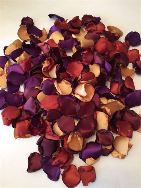 procedure of petals hairstyle gold rose petals burnt orange petals burgundy petals aisle