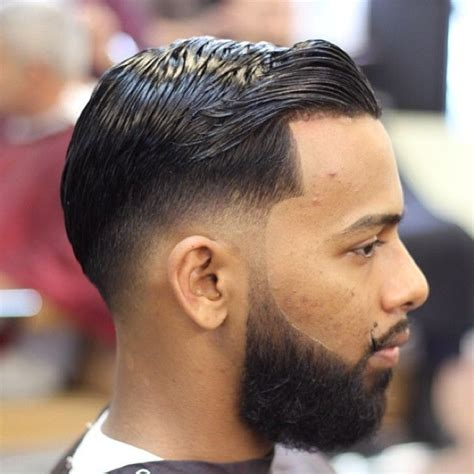 comb over taper fade style taper fade comb over with beard www pixshark com