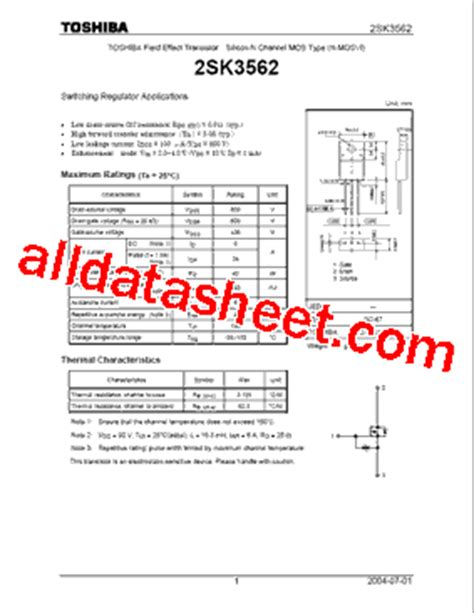 transistor datasheet guide transistor k3562 datasheet 28 images k3569 toshiba a beginner s guide to the mosfet reibot