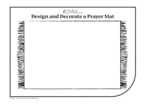 Using This Blank Template Of A Prayer Mat Your Child Can Decorate It With A Design Of Their Free Photo Mat Templates