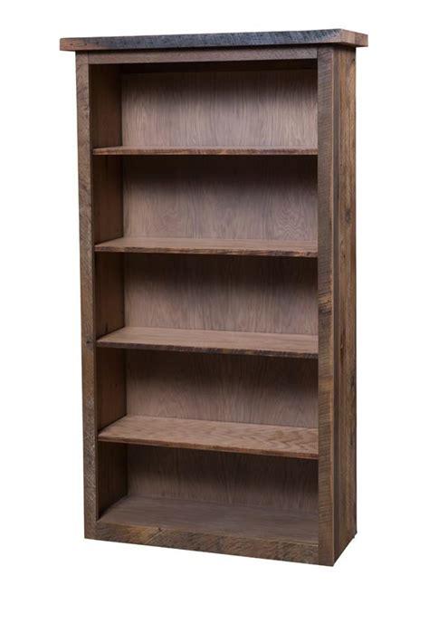 Barn Wood Bookshelf reclaimed barn wood bookcase with adjustable shelves