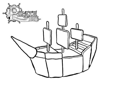 pirate ship cut out template www imgkid com the image