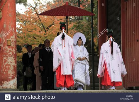 the procession of a traditional japanese shinto wedding ceremony in stock photo 79704625 alamy
