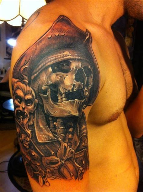 pirate skull tattoo designs great pirate tattoos skulls