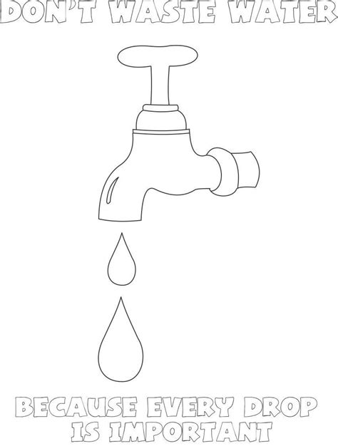 coloring page saving water coloring pages save water coloring coloring home