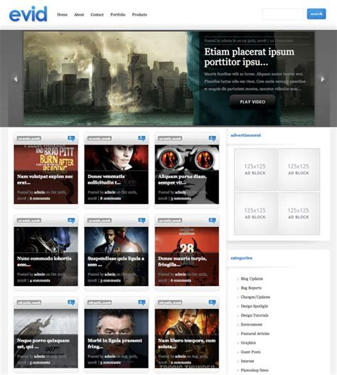 themes in the help film video wordpress theme evid