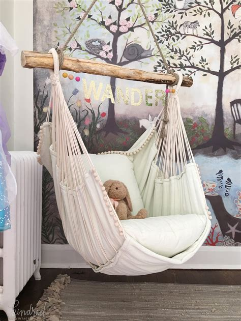 hanging chair for kids bedroom kindredvintage co summer tour rustic decorating ideas