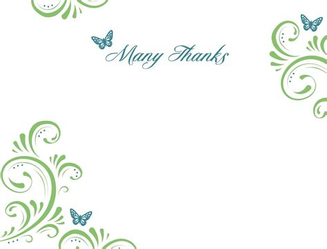 thank you note card template thank you template cyberuse