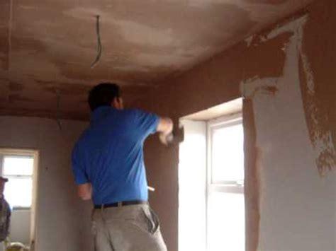 plastering walls tutorial plastering a wall youtube