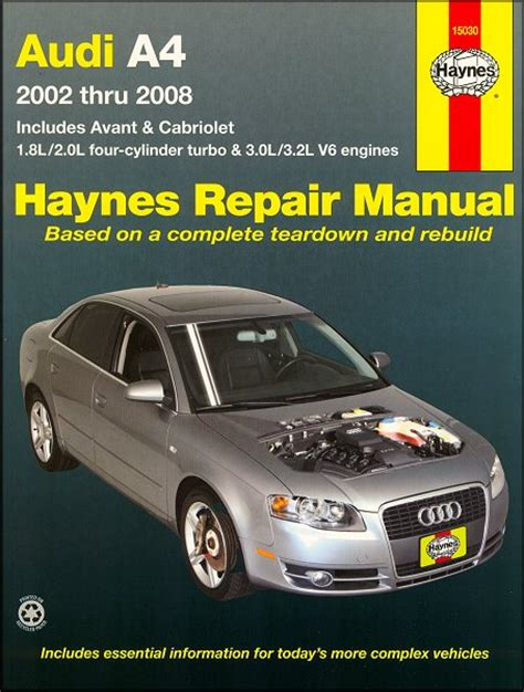 car repair manuals download 2000 audi a4 head up display audi a4 sedan avant cabriolet repair manual 2002 2008 haynes