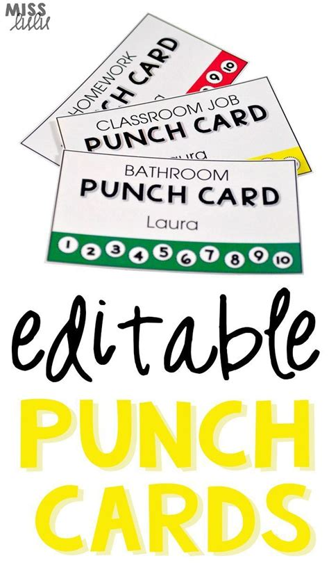 25 best ideas about behavior punch cards on
