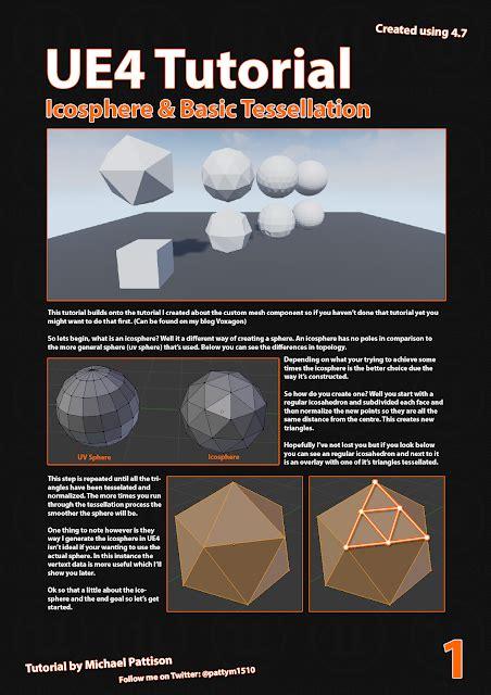 tutorial c ue4 voxagon ue4 tutorial icosphere and basic tessellation