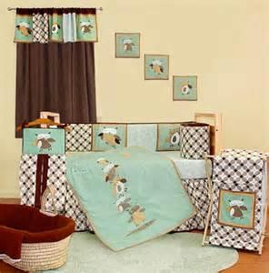 Owl Crib Bedding For Boy Baby Boy Owl Nursery Bedding Thenurseries