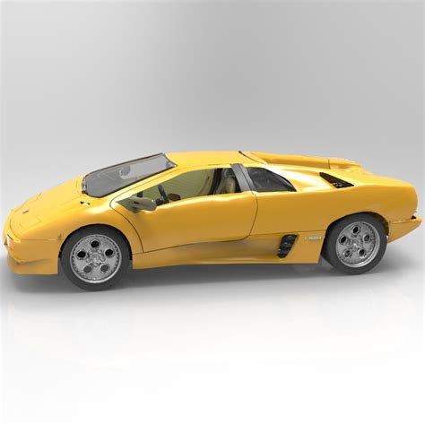 Lamborghini Diablo Models by Lamborghini Diablo Studio Max Obj 3d Model Max Obj